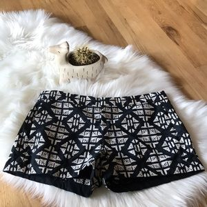 Lucky Brand linen-blend embroidered shorts